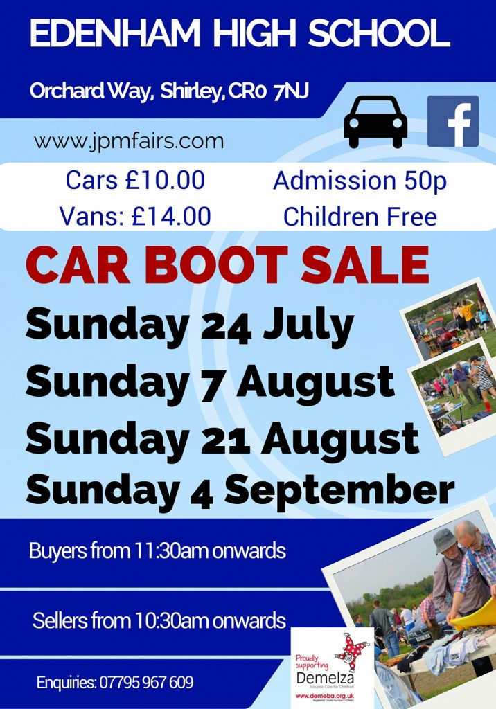 Edenham Car Boot Sale Poster 2016